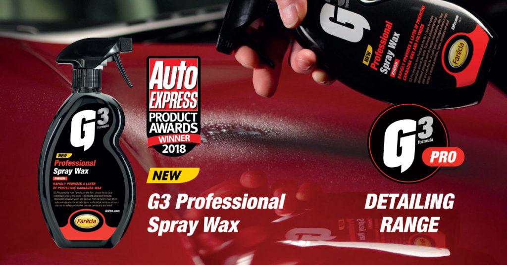 G3 Pro Spray Wax Award Winner