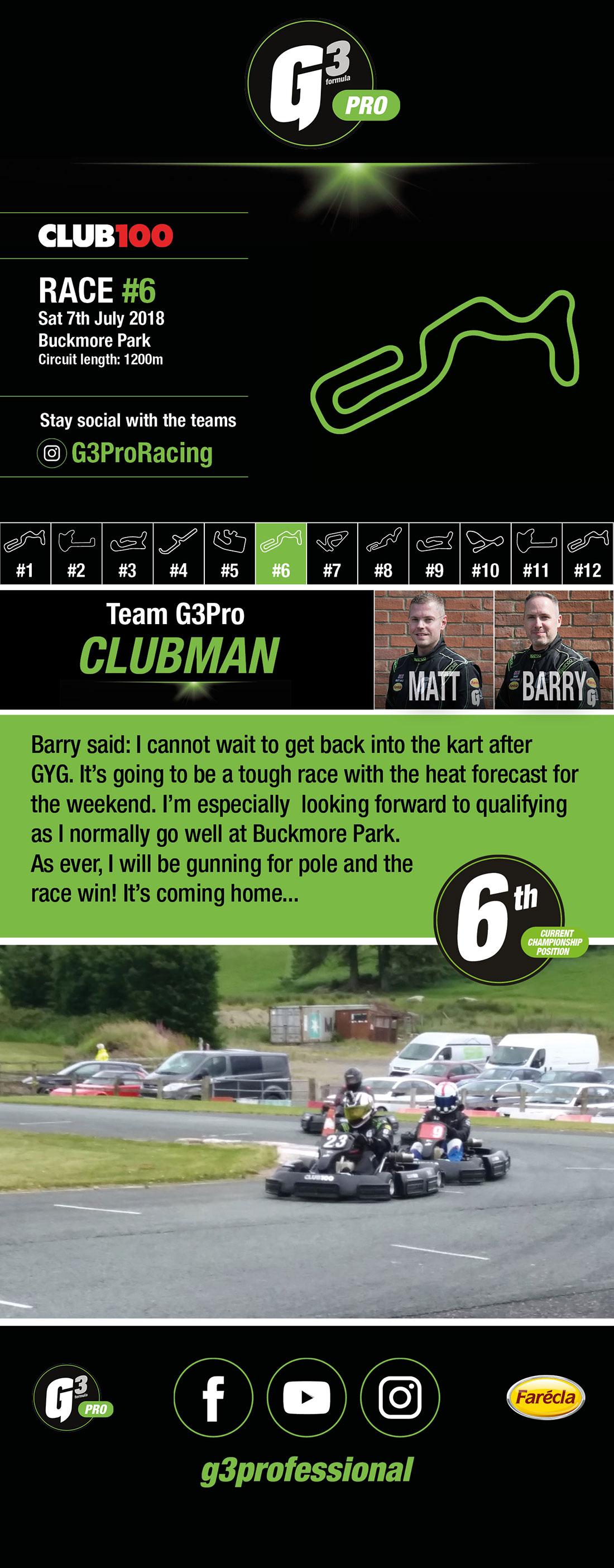 Team G3 Pro Clubman - Club100 Round 6